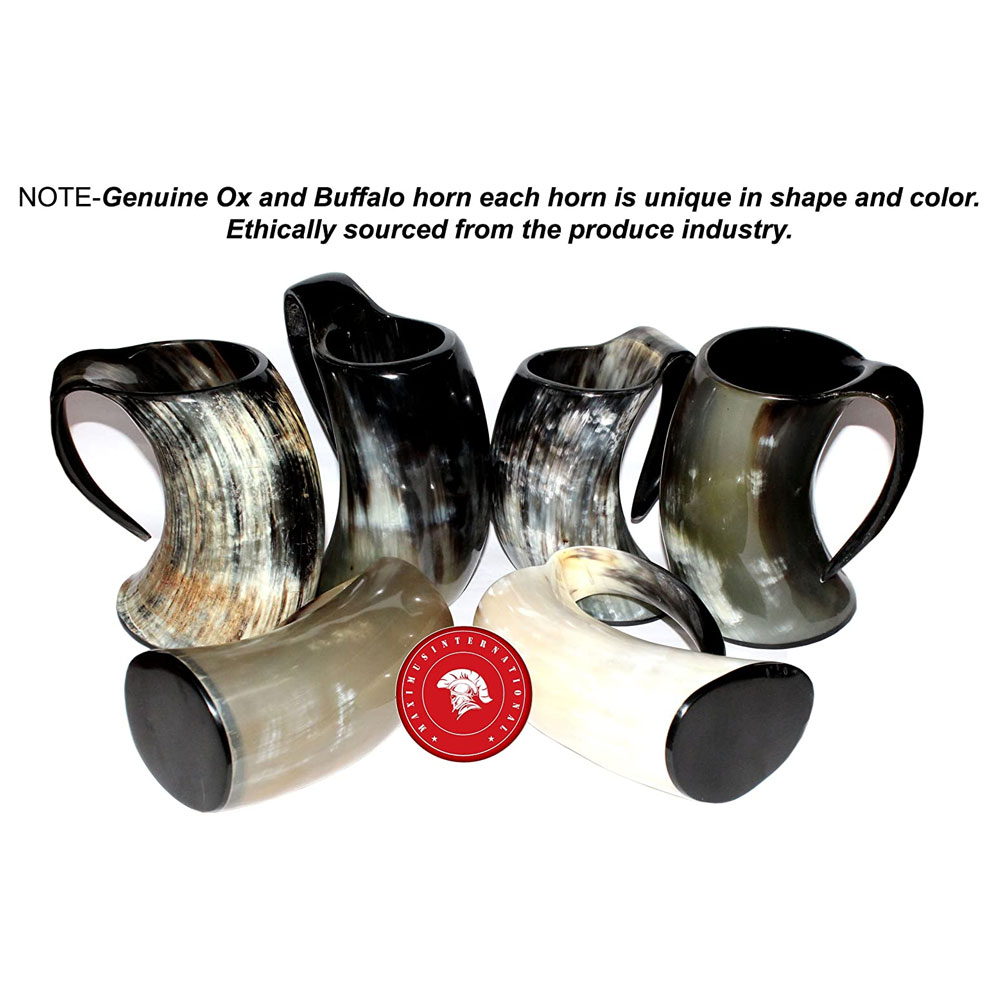 Viking Drinking Ox Horn Ale Beer Wine Mead Mug Goblet Holds Item Gift